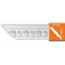 95854 гибкий потолочный плинтус с орнаментом DECOMASTER