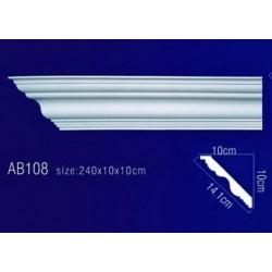 AB108 Плинтус потолочный без орнамента
