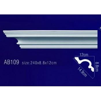 AB109 Плинтус потолочный без орнамента