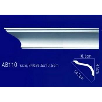 AB110 Плинтус потолочный без орнамента