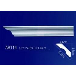 AB114 Плинтус потолочный без орнамента
