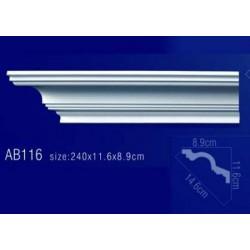 AB116 Плинтус потолочный без орнамента