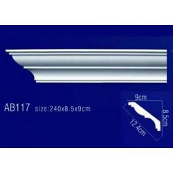 AB117 Плинтус потолочный без орнамента