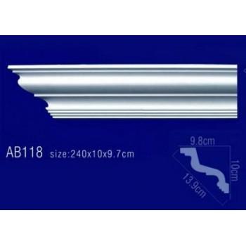 AB118 Плинтус потолочный без орнамента