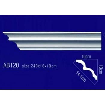 AB120 Плинтус потолочный без орнамента