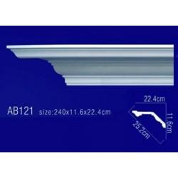 AB121 Плинтус потолочный без орнамента