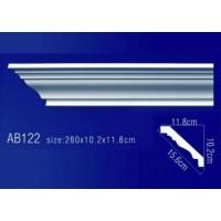 AB122 Плинтус потолочный без орнамента