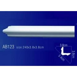 AB123 Плинтус потолочный без орнамента