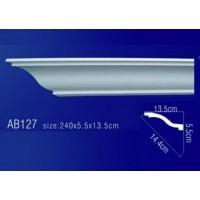 AB127 Плинтус потолочный без орнамента