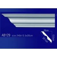 AB129 Плинтус потолочный без орнамента