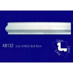 AB132 Плинтус потолочный без орнамента