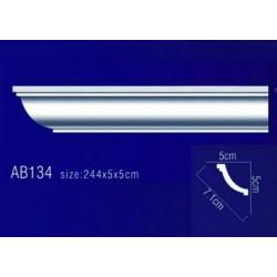 AB134 Плинтус потолочный без орнамента