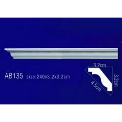AB135 Плинтус потолочный без орнамента