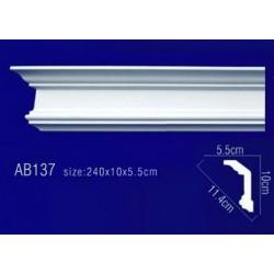 AB137 Плинтус потолочный без орнамента