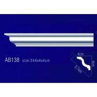 AB138 Плинтус потолочный без орнамента