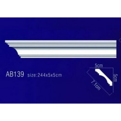 AB139 Плинтус потолочный без орнамента
