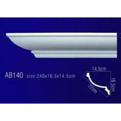 AB140 Плинтус потолочный без орнамента