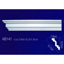 AB141 Плинтус потолочный без орнамента