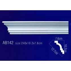 AB142 Плинтус потолочный без орнамента