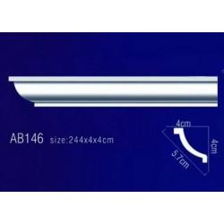AB146 Плинтус потолочный без орнамента
