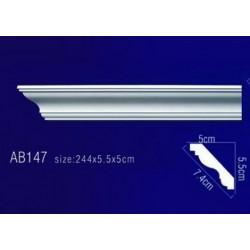 AB147 Плинтус потолочный без орнамента