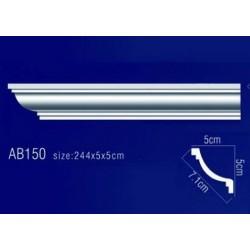 AB150 Плинтус потолочный без орнамента
