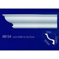 AB154 Плинтус потолочный без орнамента