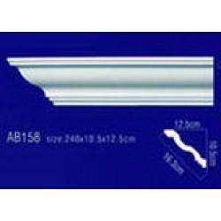 AB158 Плинтус потолочный без орнамента