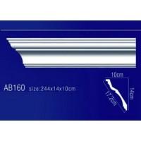 AB160 Плинтус потолочный без орнамента