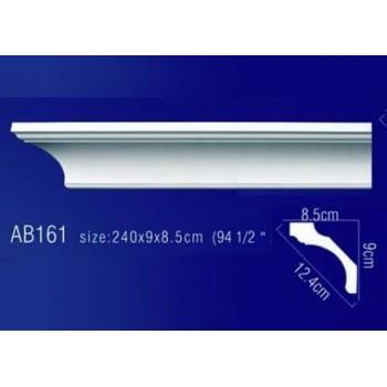 AB161 Плинтус потолочный без орнамента