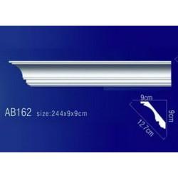 AB162 Плинтус потолочный без орнамента