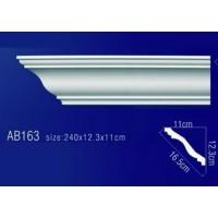 AB163 Плинтус потолочный без орнамента