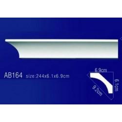 AB164 Плинтус потолочный без орнамента