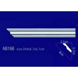 AB166 Плинтус потолочный без орнамента