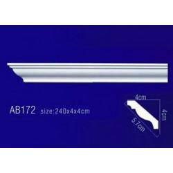 AB172 Плинтус потолочный без орнамента
