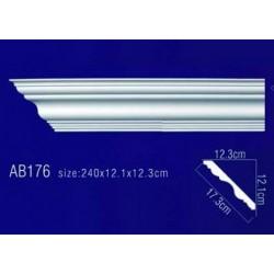 AB176 Плинтус потолочный без орнамента