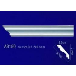 AB180 Плинтус потолочный без орнамента