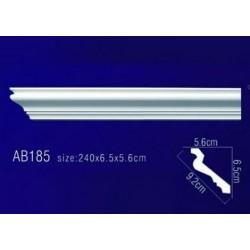 AB185 Плинтус потолочный без орнамента
