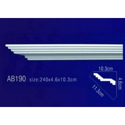 AB190 Плинтус потолочный без орнамента