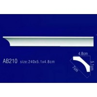 AB210 Плинтус потолочный без орнамента